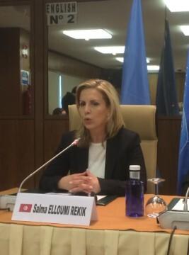 Salma Elloumi Rekik, ministra de Turismo y Artesanía de Túnez.