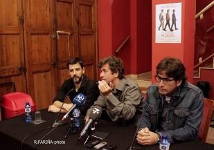 Hortelano, Diego y Garrido durante la rueda de prensa.