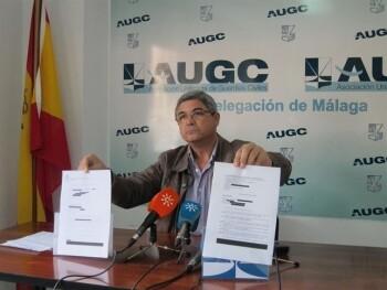 Ignacio Carrasco, secretario provincial de AUGC Málaga, en una reciente comparecencia ante los medios.