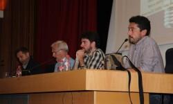 Jordi Blades de València en Comú participó en un debate con los candidatos de EUPV y Compromís