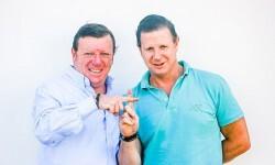 Jorge y César Cadaval forman la pareja humorística de Los Morancos.