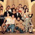 La compañía de l'Horta Teatre en 1983.