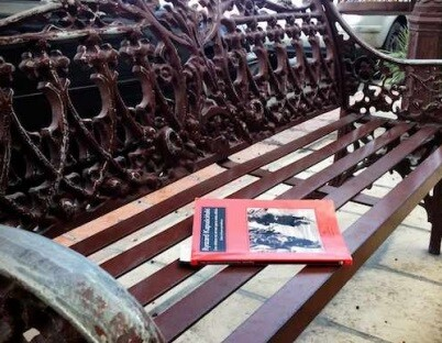 Libro liberado en un baco de la calle.