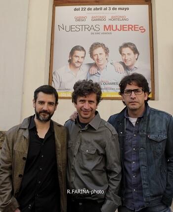 Los tres intérpretes de la obra.