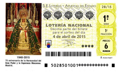 Lotería Nacional, sorteo de lotería nacional 2  abril