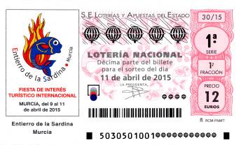 Lotería Nacional sorteo especial de abril11 de abril de 2015