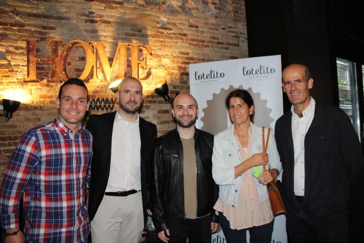 Manu Ragull, José Vergara, MA Font, María Hidalgo y Juanjo Marti