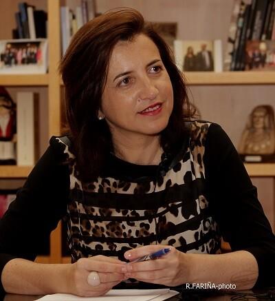 Marta Alonso durante un momento de la entrevista.