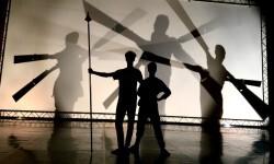 Momento de un ensayo de la obra 'Don Quijote'.