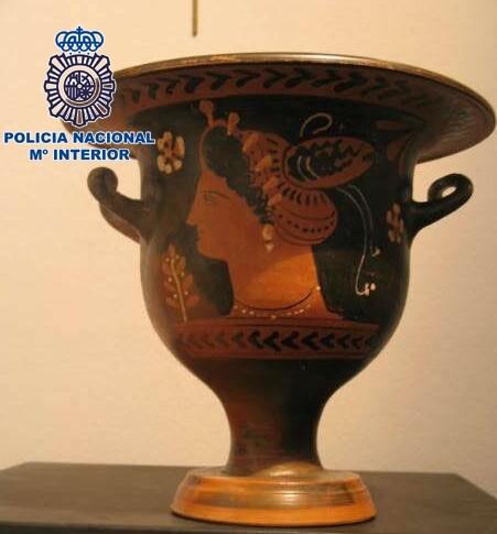 Otra de las piezas recuperadas por la Policía Nacional.