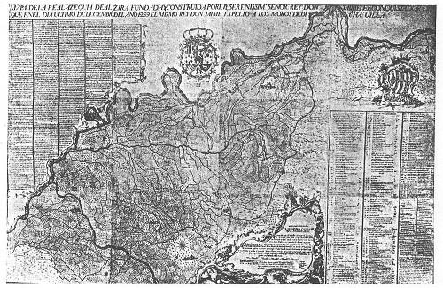 Plano de la Acequia Real del Júcar de 1765.