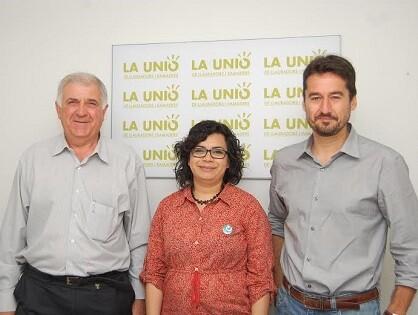 Ramón Mampel Dellà junto a miembros de València en Comú.