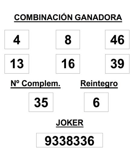 Resultados de la Primitiva de hoy jueves 9 de abril de 2015. Combinación ganadora, números premiados y Joker