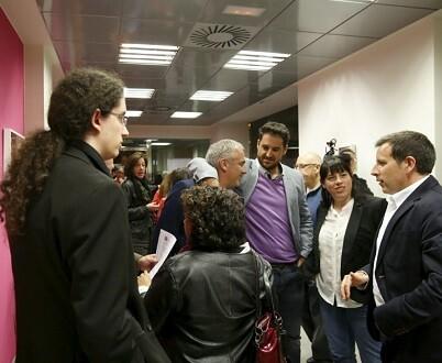 Reunión de los principales miembros de UPyD Aragón para abandonar la formación y buscar una solución para pactar con Ciudadanos.