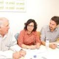 Reunión entre la Unió de Llauradors y València en Comú.