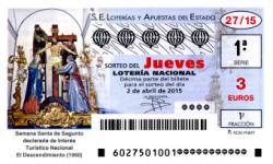 Sorteo del jueves de lotería nacional 2 de abril de 2015