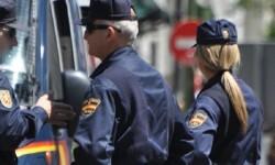 Una imagen de archivo de la policía en una manifestación.