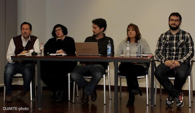 Varios de los miembros de València en Comú que forman la lista para la el Ayuntamiento de  la ciudad.