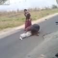 Video  transportaban un ataúd y se les cayó el muerto   Videos   América