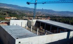 Construcción del nuevo depósito de agua potable en Castalla