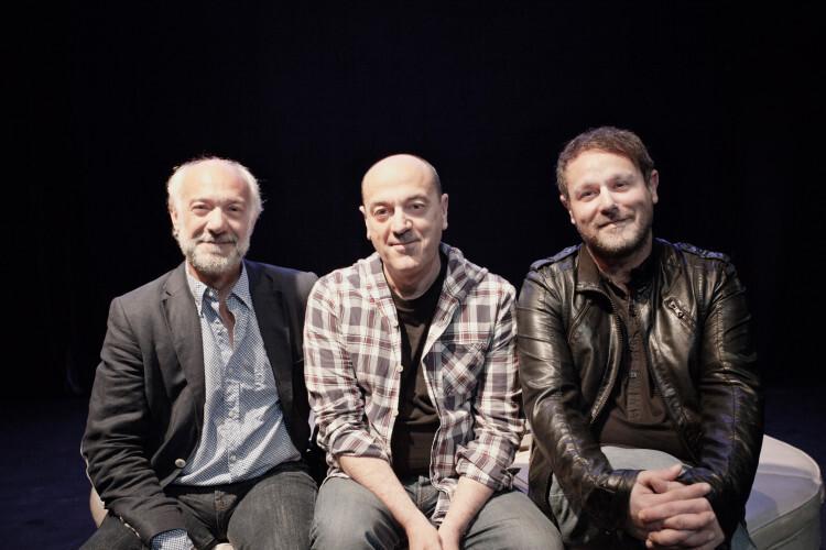 De izquierda a derecha, Juan Carlos Garés, Chema Cardeña y David Campillos, socios de la compañía valenciana Arden Producciones