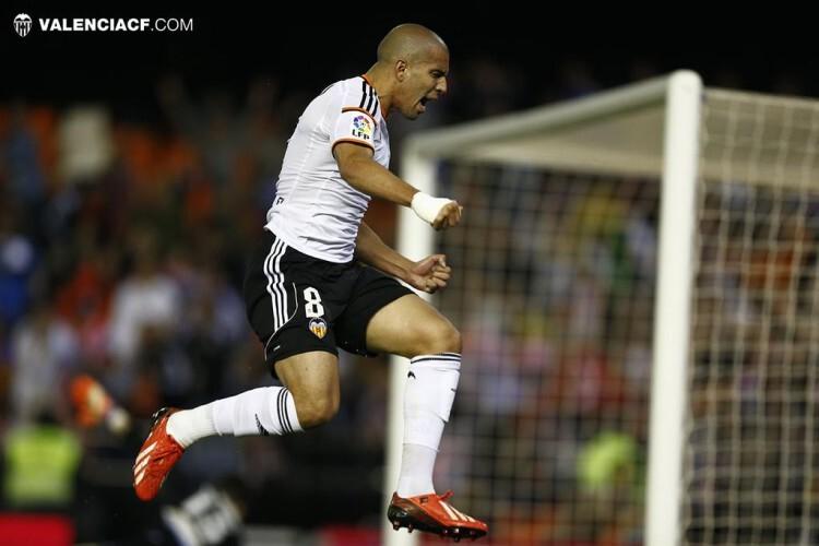 Sofianne Feghouli disfrutó con su gol.