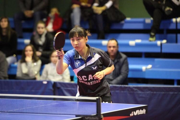 La jugadora del UCAM Cartagena, Li Xiang