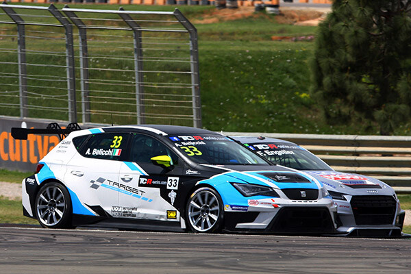 03.05.2015 - Race 1, Andrea Belicchi (ITA) SEAT León, Target Competition and Franz Engstler (DEU) Audi TT, Liqui Moly Team Engstler