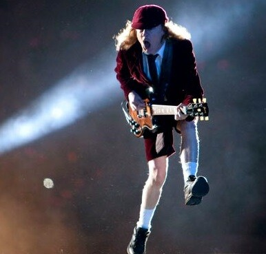 AC-DC en concierto durante su gira actual.