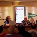 Acto de presentación en Valencia del libro 'El Ajedrez del Virrey' con José Antonio Garzón (autor), Rafael Solaz y Borja Monzó. Foto Roberto Fariña