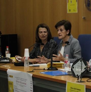 Adela Cortina en una reciente visita a Valencia.