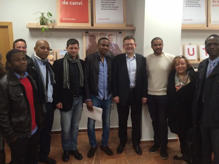 Afros amb Ximo Puig y David Cerdan.Inauguració Oficina del Candidat PSPV