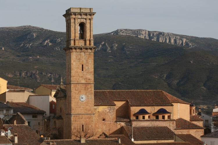 Parte del núcleo urbano de Andilla.