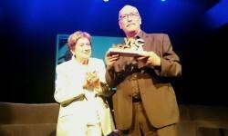 Andreu Martín recoge el premio Ledesma VLC NEGRA.