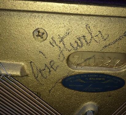 Bastidor del piano firmado por Iturbí (Foto-Abulaila)