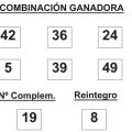 COMBINACIÓN GANADORA DE BONOLOTO DE FECHA 21 DE MAYO DE 2015.