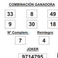 COMBINACIÓN GANADORA DE LOTERÍA PRIMITIVA DE FECHA 21 DE MAYO DE 2015