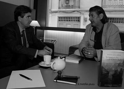 Calderón en un momento de la entrevista.
