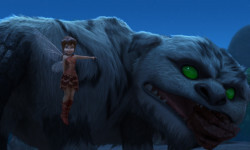 """LEGEND OF THE NEVERBEAST"" Pictured (L-R): Fawn and Gruff, in the heartwarming adventure that explores the ancient myth of a mysterious creature whose distant roar sparks the curiosity of Tinker Bell's friend Fawn, an animal fairy who's not afraid to break the rules to rescue the NeverBeast before time runs out.©2014 Disney Enterprises, Inc. All Rights Reserved."