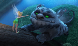 """TINKER BELL AND THE LEGEND OF THE NEVERBEAST"" Pictured (L-R): Tinkerbell and Gruff. ©2014 Disney Enterprises, Inc. All Rights Reserved."