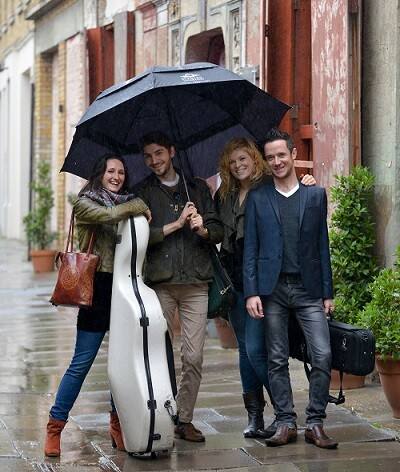 Cavaleri String Quartet en una imagen promocional.