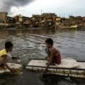 Consecuencias del paso del tifón por Filipinas.