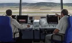 Controladores aéreos en prácticas.