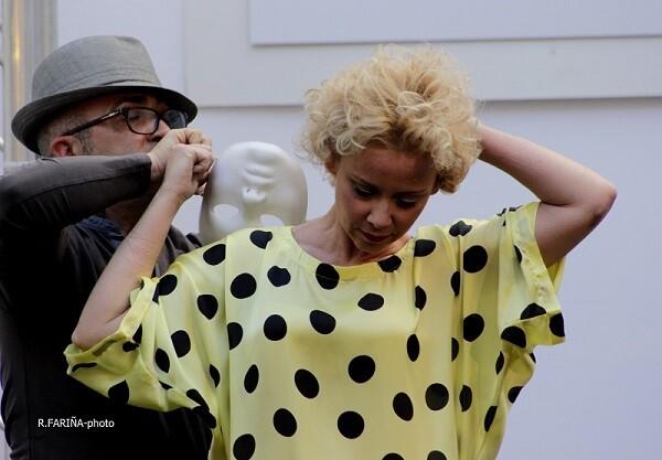 El estilista Toni Rodrigo última la figura de Albiach.