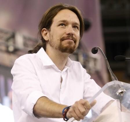 El secretario general de Podemos durante un mitin de la formación.