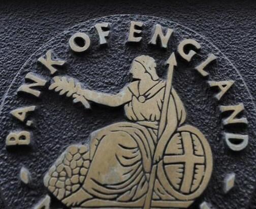 Emblema del Banco de Inglaterra.