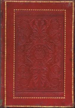 Encuadernación con gofrados.  Siglo XIX. A. P. R. S.