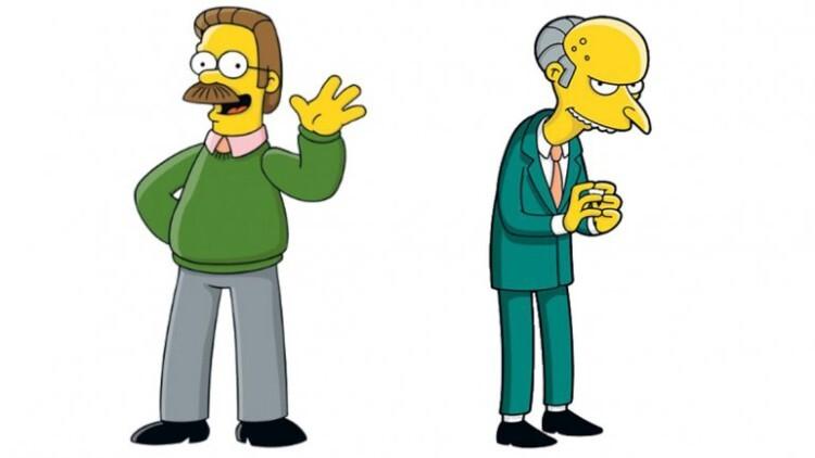 Flanders y el señor Burns abandonan Los Simpson