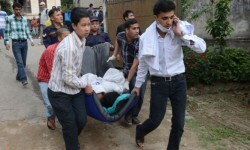 Imagen del rescate de una persona hace cinco días.