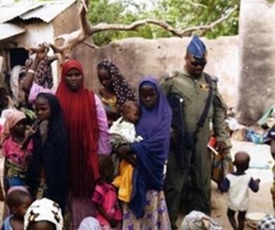 Imagen difundida por los militares nigerianos. (AP)